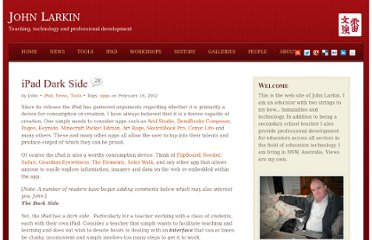 http://www.larkin.net.au/blog/2012/02/16/ipad-dark-side/