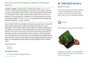 http://rtutorialseries.blogspot.com/2010/03/r-tutorial-series-r-beginners-guide-and.html