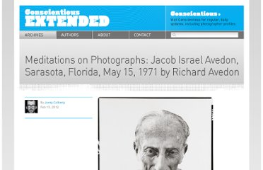 http://jmcolberg.com/weblog/extended/archives/meditations_on_photographs_jacob_israel_avedon_sarasota_florida_may_15_1971/#.Tz0VMCxFJ9E.facebook