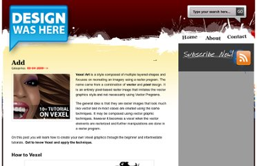http://designwashere.com/10-awesome-tutorials-on-vexel-art/