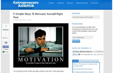 http://www.entrepreneurskorner.com/5-simple-ways-to-motivate-yourself-right-now/