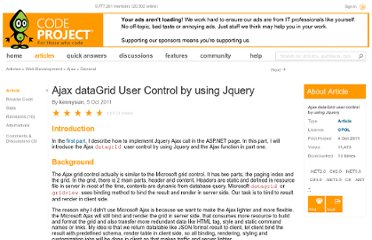 http://www.codeproject.com/Articles/263508/Ajax-dataGrid-user-control-by-using-Jquery