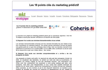 http://www.marketing-strategique.com/Tribunes-Didier-Gaultier-10-Points-Clefs-Marketing-Predictif.htm
