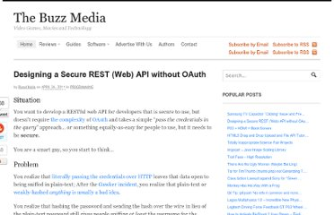 http://www.thebuzzmedia.com/designing-a-secure-rest-api-without-oauth-authentication/