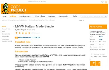 http://www.codeproject.com/Articles/278901/MVVM-Pattern-Made-Simple