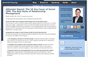 http://www.web-strategist.com/blog/2010/03/05/altimeter-report-the-18-use-cases-of-social-crm-the-new-rules-of-relationship-management/