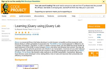 http://www.codeproject.com/Articles/260362/Learning-jQuery-using-jQuery-Lab