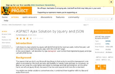 http://www.codeproject.com/Articles/263501/asp-net-Ajax-solution-by-Jquery-and-JSON