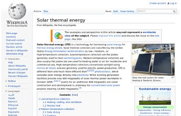 http://en.wikipedia.org/wiki/Solar_thermal_energy