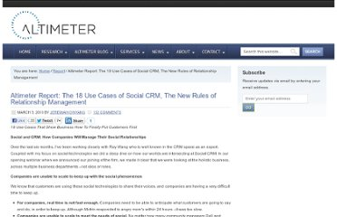 http://www.altimetergroup.com/2010/03/altimeter-report-the-18-use-cases-of-social-crm-the-new-rules-of-relationship-management.html