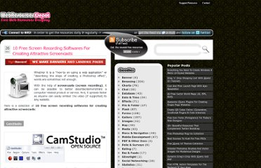 http://www.webresourcesdepot.com/10-free-screen-recording-softwares-for-creating-attractive-screencasts/