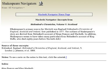 http://shakespeare-navigators.com/macbeth/Holinshed/index.html