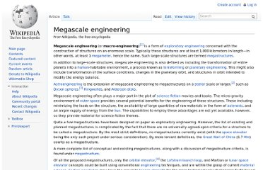 http://en.wikipedia.org/wiki/Megascale_engineering