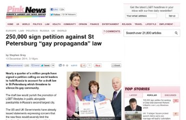 http://www.pinknews.co.uk/2011/12/13/250000-sign-petition-against-st-petersburg-gay-propaganda-law/