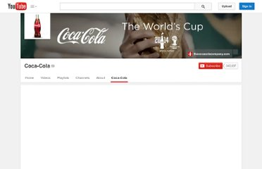 http://www.youtube.com/user/cocacola