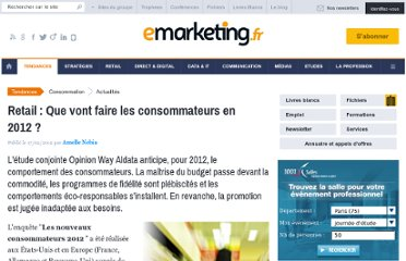 http://www.e-marketing.fr/Breves/Que-vont-faire-les-consommateurs-en-2012-44443.htm