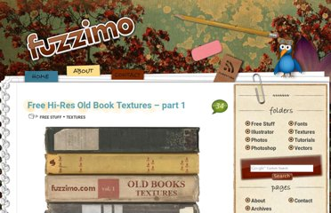 http://www.fuzzimo.com/free-hi-res-old-book-textures-part-1/