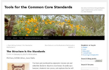 http://commoncoretools.me/2012/02/16/the-structure-is-the-standards/