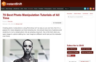 http://www.instantshift.com/2012/02/17/70-best-photo-manipulation-tutorials-of-all-time/