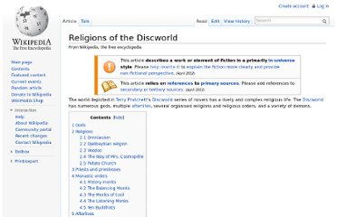 http://en.wikipedia.org/wiki/Religions_of_the_Discworld