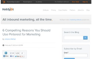 http://blog.hubspot.com/blog/tabid/6307/bid/31434/6-Compelling-Reasons-You-Should-Use-Pinterest-for-Marketing.aspx