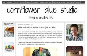 http://cornflowerbluestudio.blogspot.com/2011/11/how-to-restyle-mens-shirt-for-lady.html