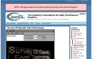http://www.opengl.org/archives/resources/features/fontsurvey/