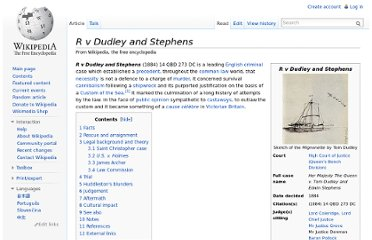 http://en.wikipedia.org/wiki/R_v_Dudley_and_Stephens