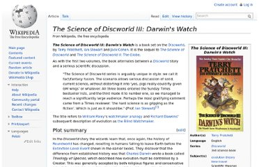 http://en.wikipedia.org/wiki/The_Science_of_Discworld_III:_Darwin%27s_Watch