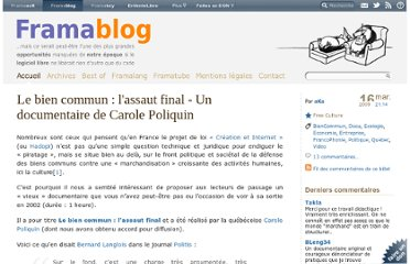 http://www.framablog.org/index.php/post/2009/03/16/le-bien-commun-documentaire-carole-poliquin