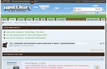 http://www.minecraftforum.net/topic/244172-all-versions-balthichous-and-plumplonks-mods-discontinued/