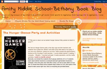 http://amitybooktalk.blogspot.com/2010/03/hunger-games-party-activities-and.html