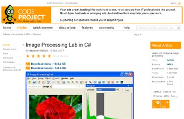 http://www.codeproject.com/Articles/9727/Image-Processing-Lab-in-C