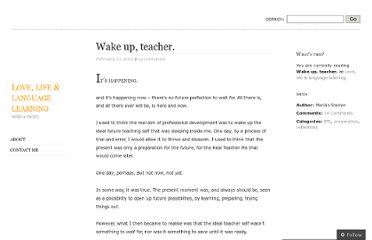 http://eltideas.wordpress.com/2012/02/17/wake-up-teacher/