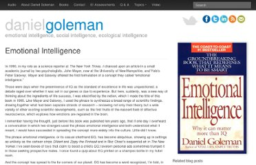 http://danielgoleman.info/topics/emotional-intelligence/