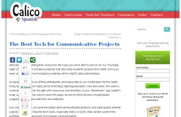http://blog.calicospanish.com/2012/02/17/the-best-tech-for-communicative-projects.html