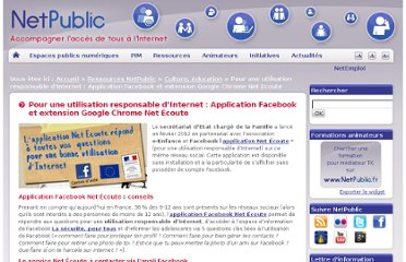 http://www.netpublic.fr/2012/02/pour-une-utilisation-responsable-internet-application-facebook-extension-google-chrome-net-ecoute/