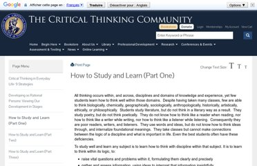 http://www.criticalthinking.org/pages/how-to-study-and-learn-part-one/513