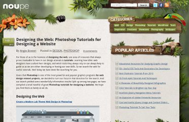 http://www.noupe.com/design/designing-the-web-photoshop-tutorials-for-designing-a-website.html