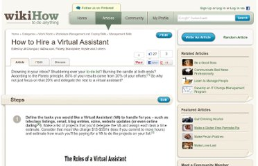 http://www.wikihow.com/Hire-a-Virtual-Assistant