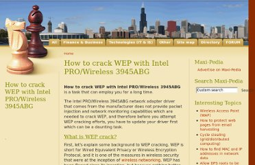 http://www.maxi-pedia.com/how+to+crack+WEP+with+intel+PRO+wireless+3945ABG