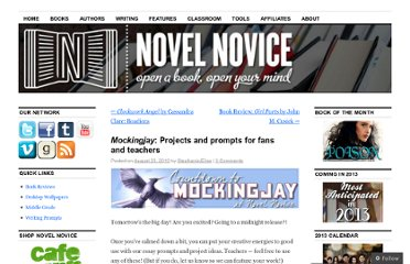 http://novelnovice.com/2010/08/23/mockingjay-countdown-projects-for-fans-and-teachers/
