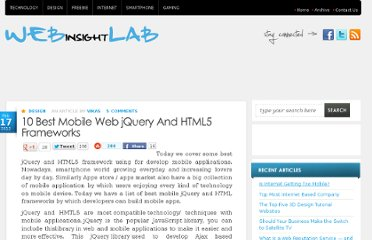 http://webinsightlab.com/design/10-best-mobile-web-jquery-and-html5-frameworks/