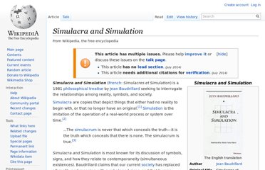 http://en.wikipedia.org/wiki/Simulacra_and_Simulation