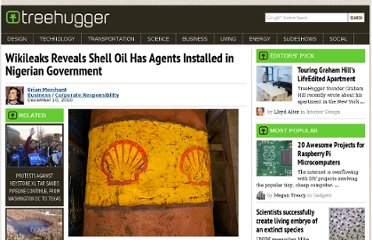 http://www.treehugger.com/corporate-responsibility/wikileaks-reveals-shell-oil-has-agents-installed-in-nigerian-government.html