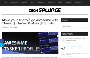 http://techsplurge.com/4926/android-awesome-15-tasker-profiles-tutorials/
