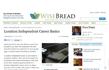 http://www.wisebread.com/location-independent-career-basics