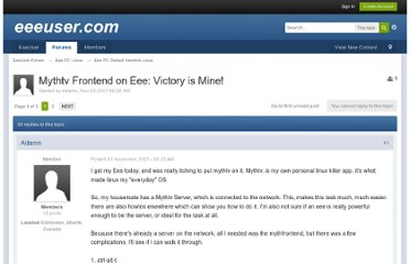 http://forum.eeeuser.com/index.php?/topic/1052-mythtv-frontend-on-eee-victory-is-mine/