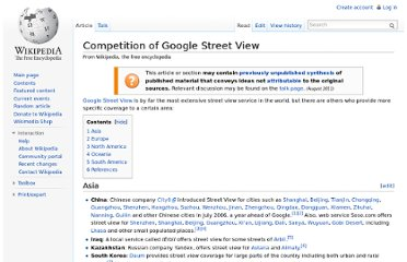 http://en.wikipedia.org/wiki/Competition_of_Google_Street_View