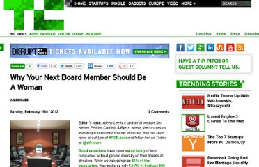 http://techcrunch.com/2012/02/19/why-your-next-board-member-should-be-a-woman-why-your-next-board-member-should-be-a-woman/